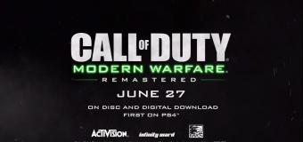 ยืนยันแล้ว Call of Duty: Modern Warfare Remastered จะขายแยก PS4 ขายก่อน
